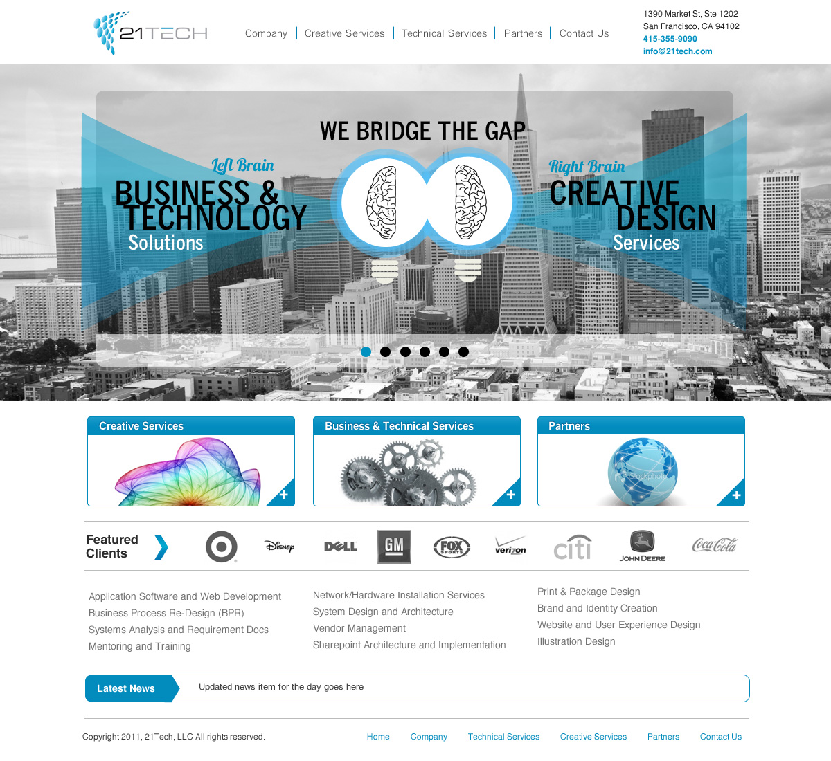 Professional, Bold, Business Web Design for a Company by Fielding