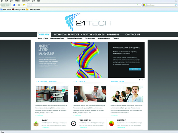 Professional Bold Business Web Design For A Company By Drenracaj Design 171273