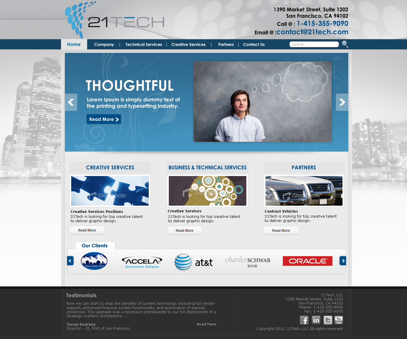 Web Design by Xpiderz for San Francisco Leading Consulting firm - 21Tech Web Design Project - Design #184807