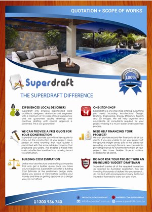 Flyer Design by smart - Superdraft needs an updated and catchy flyer/br...