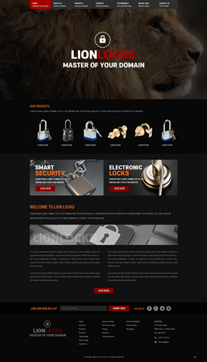 Web Design by pb - Website design for Lion Locks. ( Lock company)
