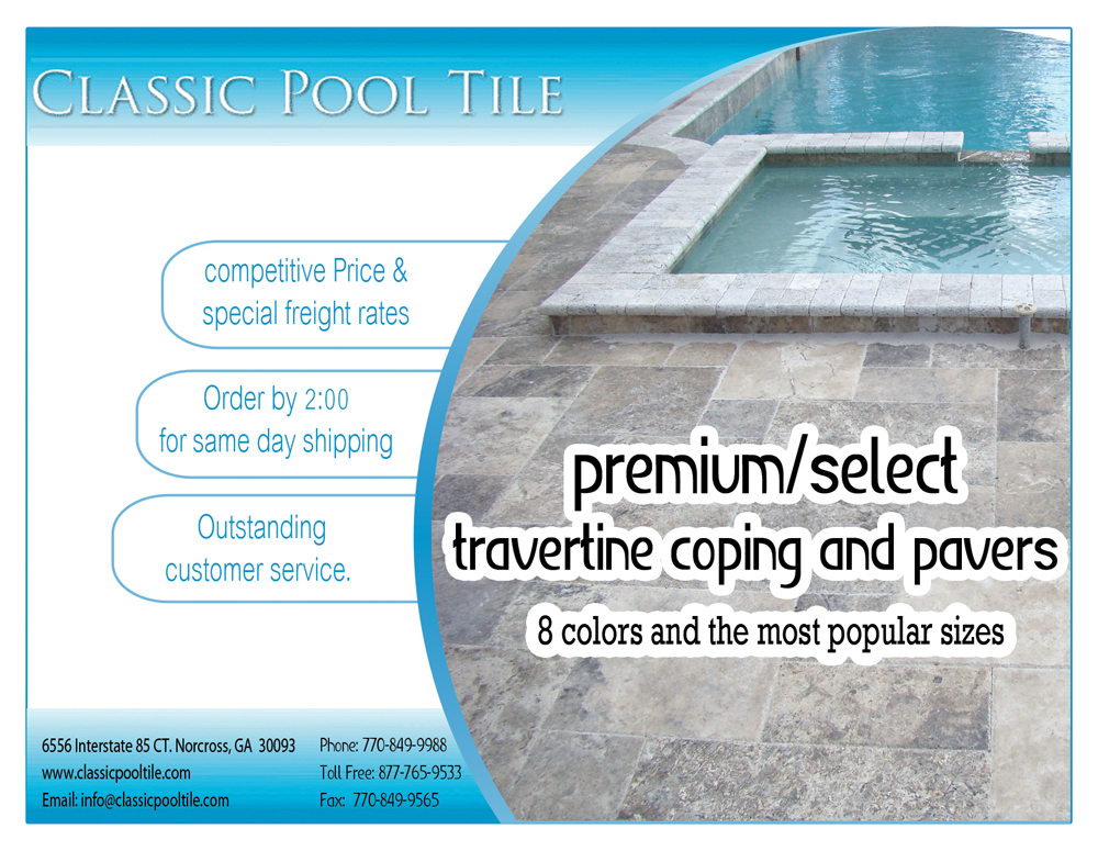 Building Postcard Design For Classic Pool Tile By AMAHER Design - Classicpooltile