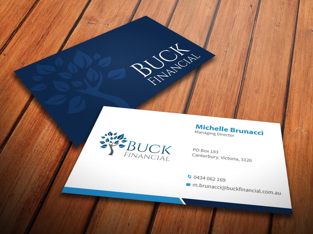 Professional, Upmarket Business Card Design for Buck Financial ...