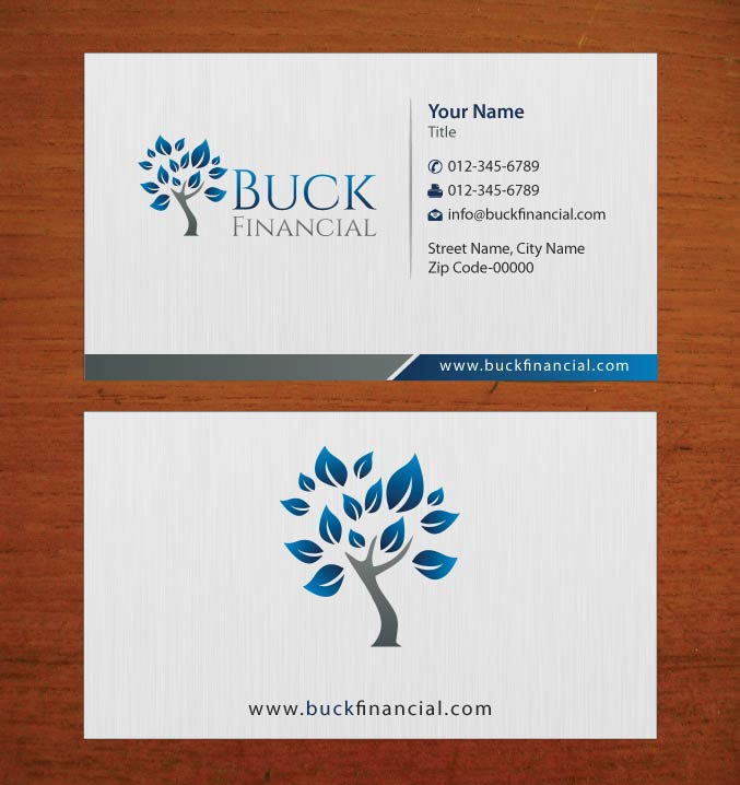 Professional, Upmarket, Finance Business Card Design for Buck ...