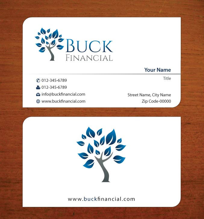 Professional Upmarket Finance Business Card Design For Buck