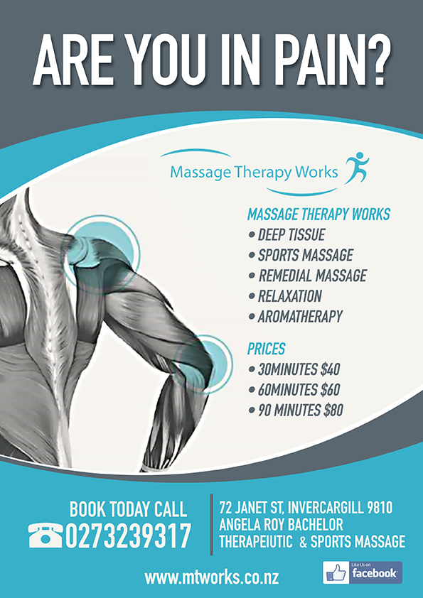 Bold, Professional, Massage Poster Design for a Company in New Zealand |  Design 4078465