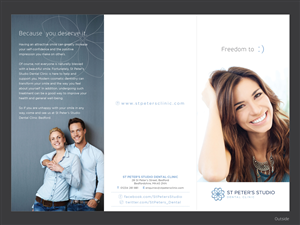 Brochure Design by Yaw Tong - Exclusive British Dental Clinic Needs Modern Br ...