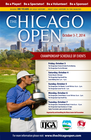 Poster Design by earldesigns - The Chicago Open promotional poster