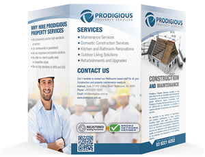 Brochure Design by T.Z. - A business Promotional flyer for Prodigious Pro...