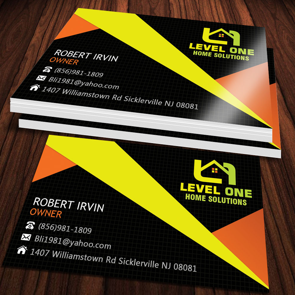 Bold modern business card design for robert irvin by sandaruwan business card design by sandaruwan for home remodeling business card design 4016631 magicingreecefo Image collections