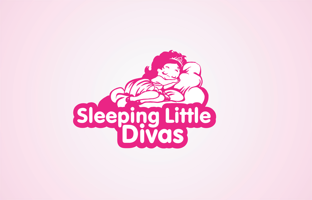 Feminine Personable Business Logo Design For Sleeping Little Divas