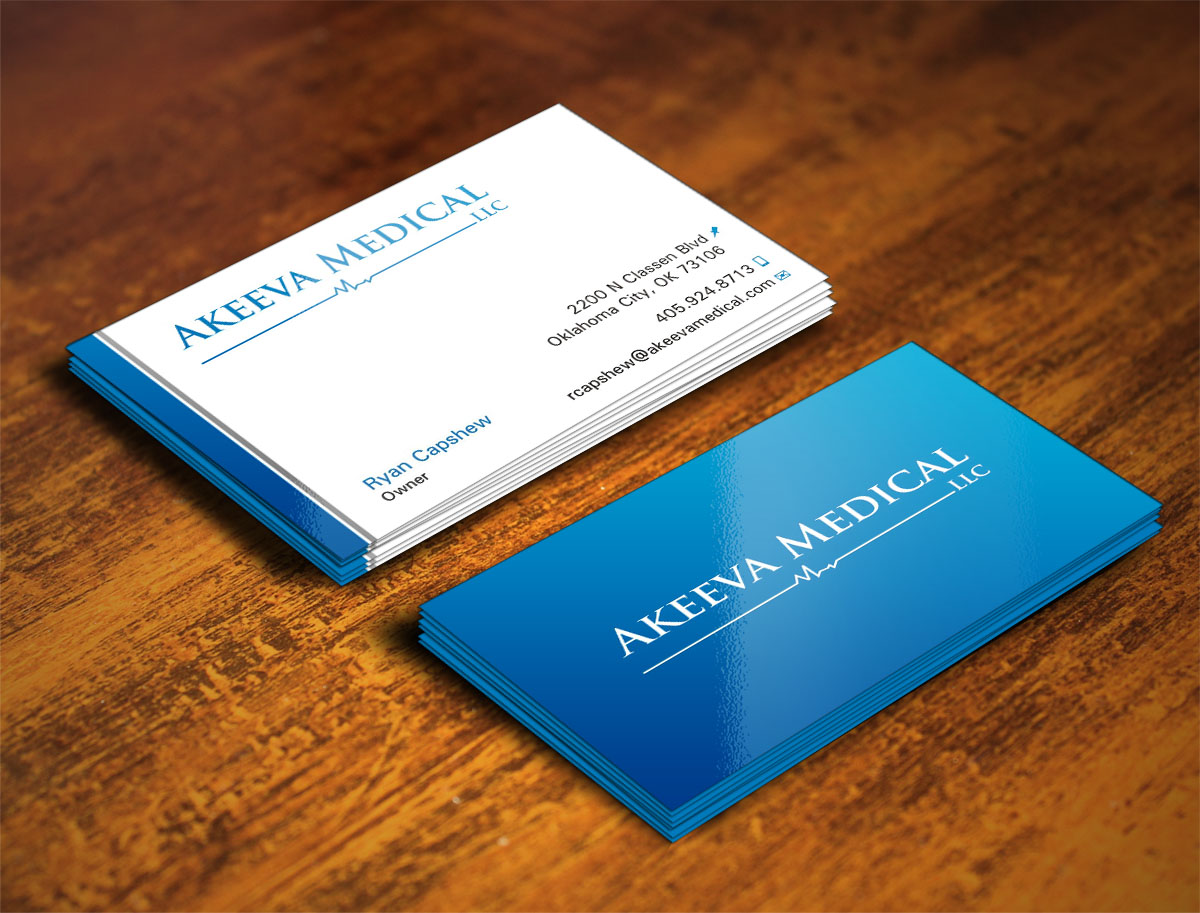 Business card design for ryan capshew by poonam gupta design business card design by poonam gupta for akeeva medical design 4031239 magicingreecefo Images