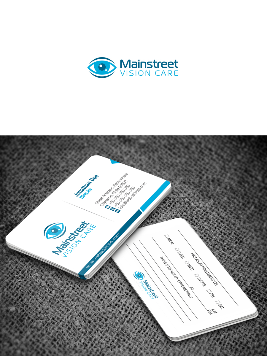 Business Logo Design for Mainstreet Vision Care by Solidus | Design ...