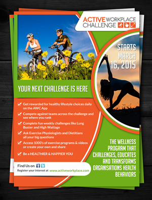 Flyer Design by ESolz Technologies - New and exciting team challenge starting in cor...