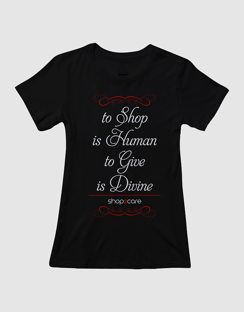 Feminine Bold Charity T Shirt Design For Shop2care By