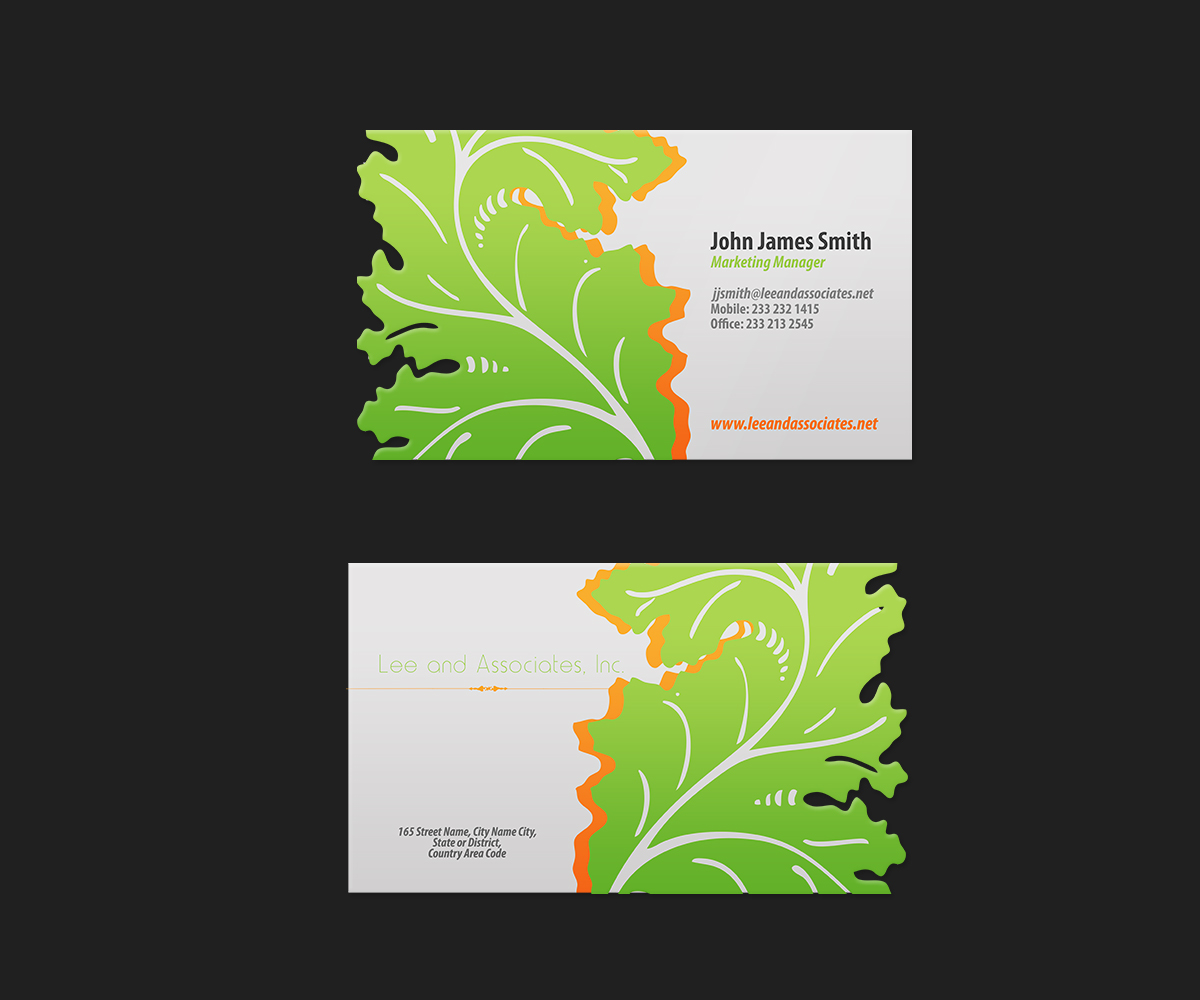 Bold Modern Business Card Design Design For Richard Lee A Company In United States