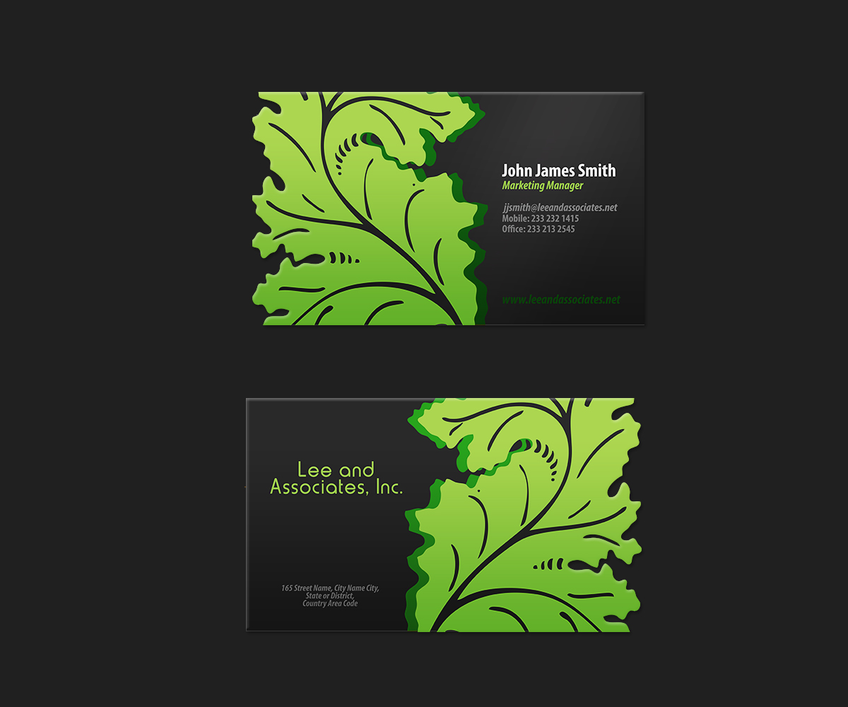 Bold, Modern, Landscape Business Card Design for a Company by ...