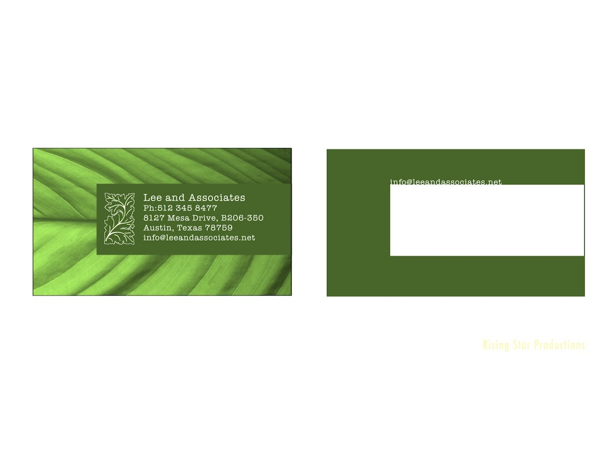 Bold modern business card design for richard lee by for Garden design business