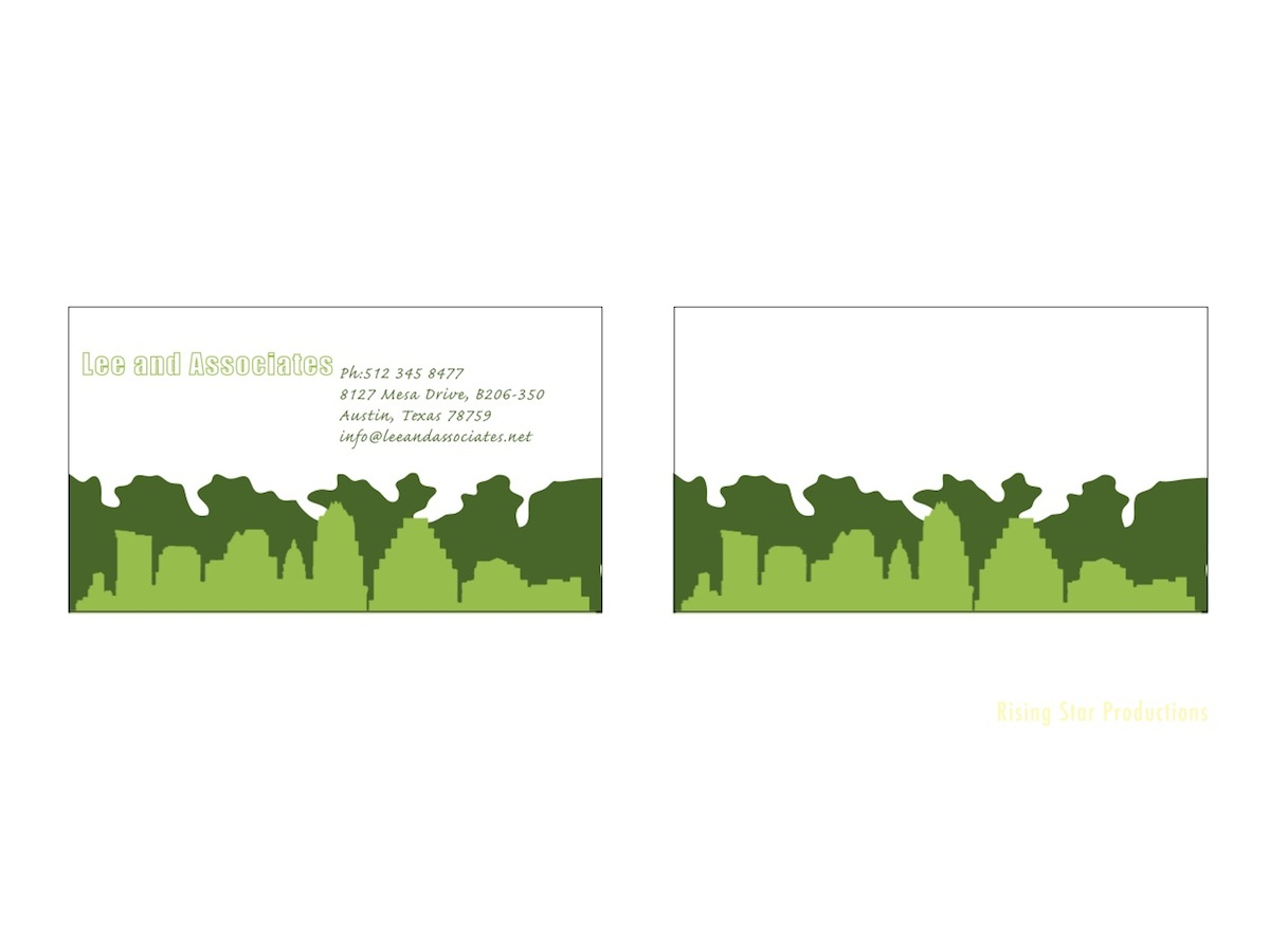 Landscape Design Business Card Slim Image