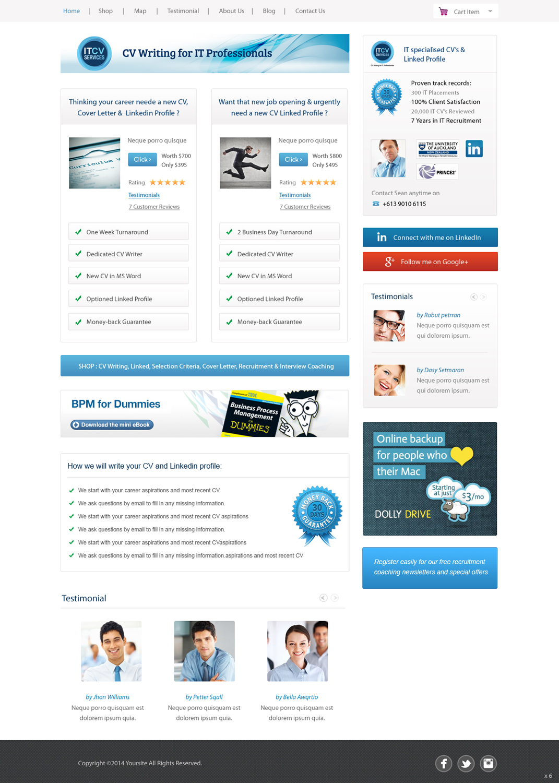 Modern Professional E Commerce Wordpress Design For Itcv Services