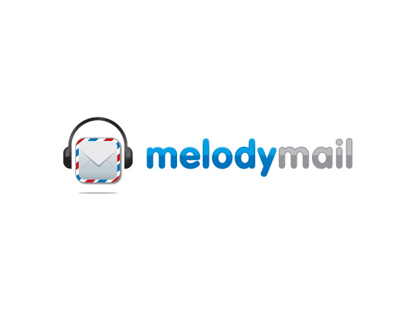 Logo Design by Goh for LOGO DESIGN for MUSIC GIFTING APPLICATION melodymail - Design #151165