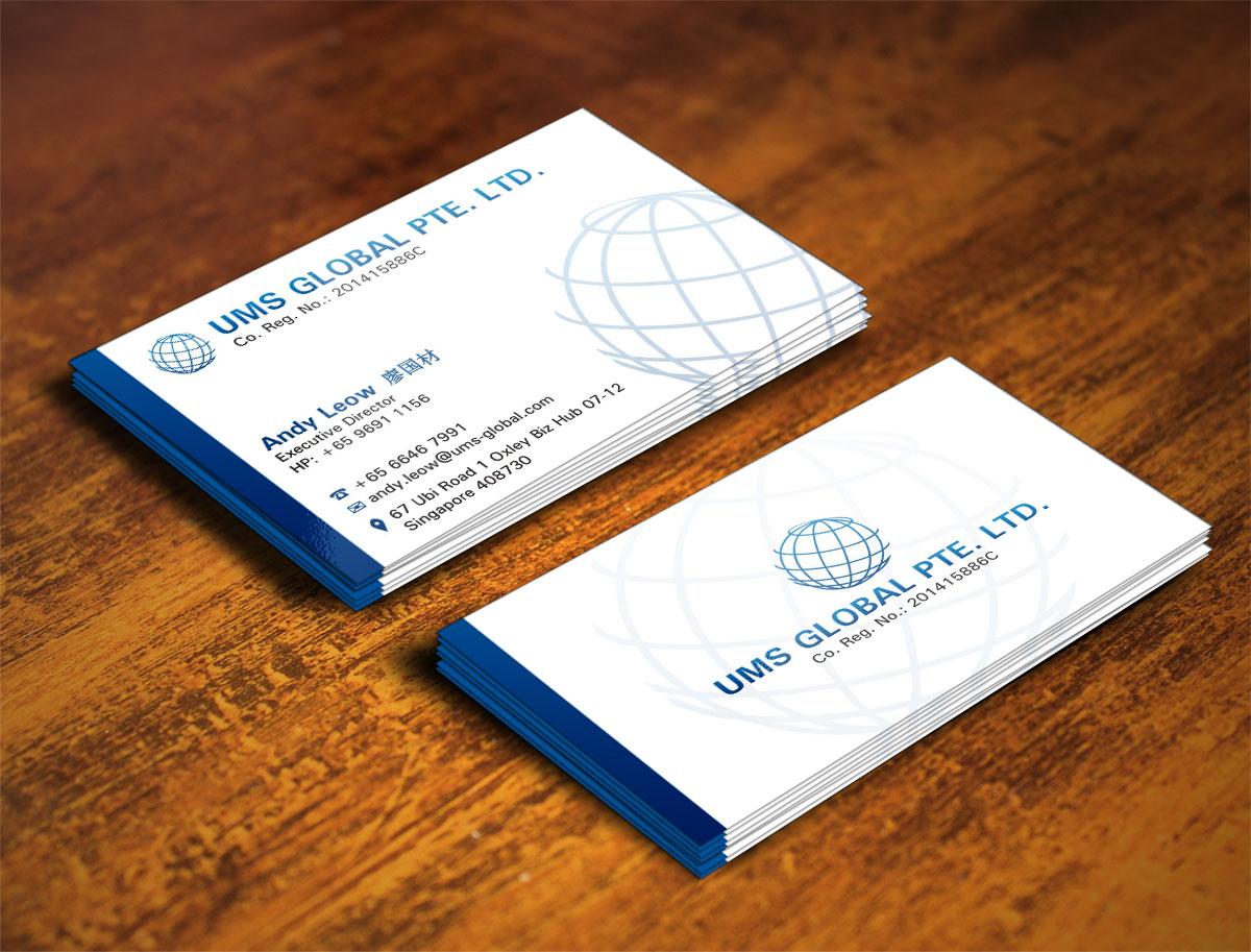 Business Business Card Design for UMS Global Pte. Ltd. by Poonam ...