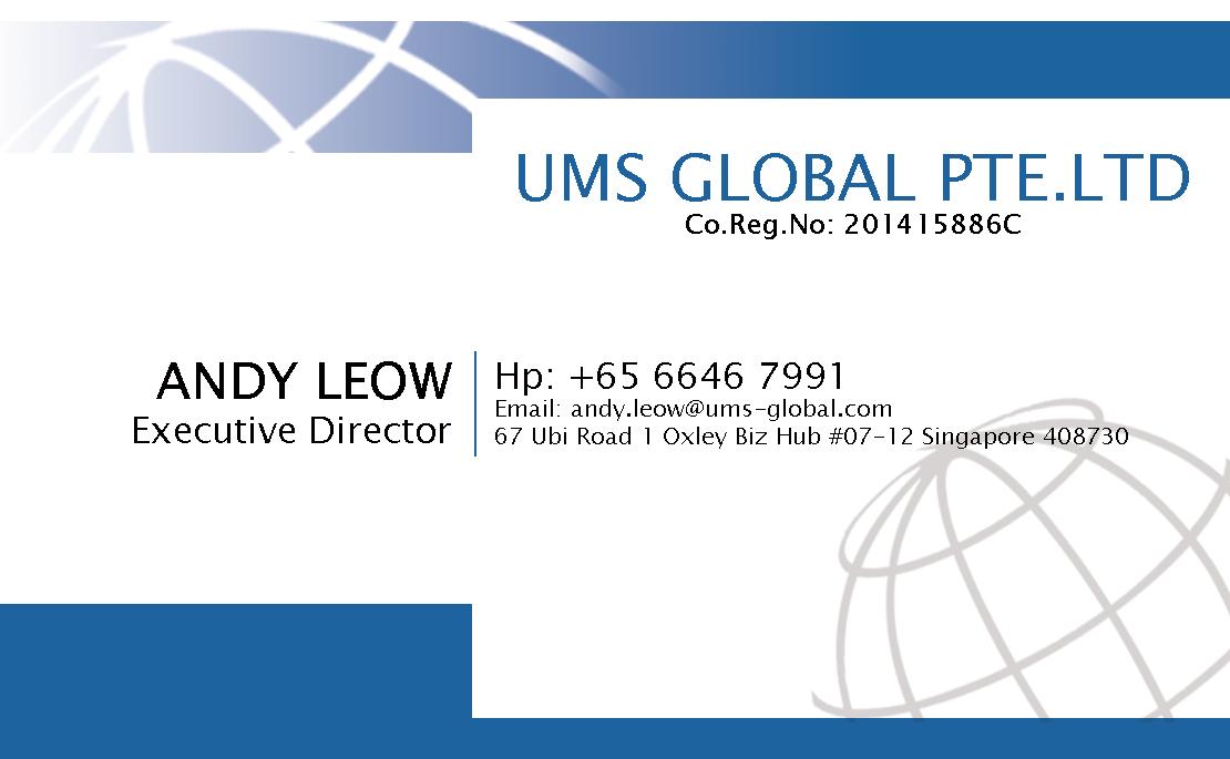 Business business card design for ums global pte ltd by zoe business business card design for ums global pte ltd in singapore design 4050470 colourmoves