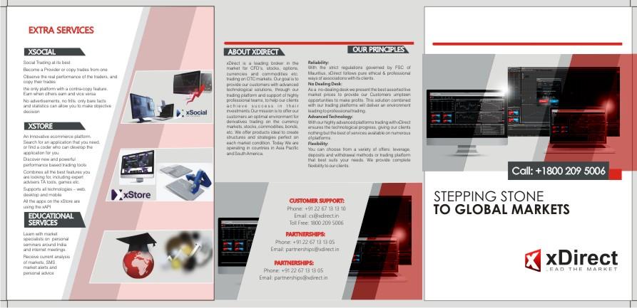 Bold, Masculine, Financial Brochure Design for xDirect