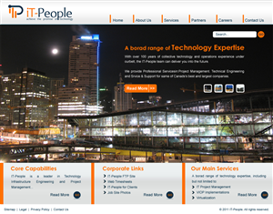 Web Design job – SEO optimized website for IT-People Corporate identity – Winning design by Shilpa