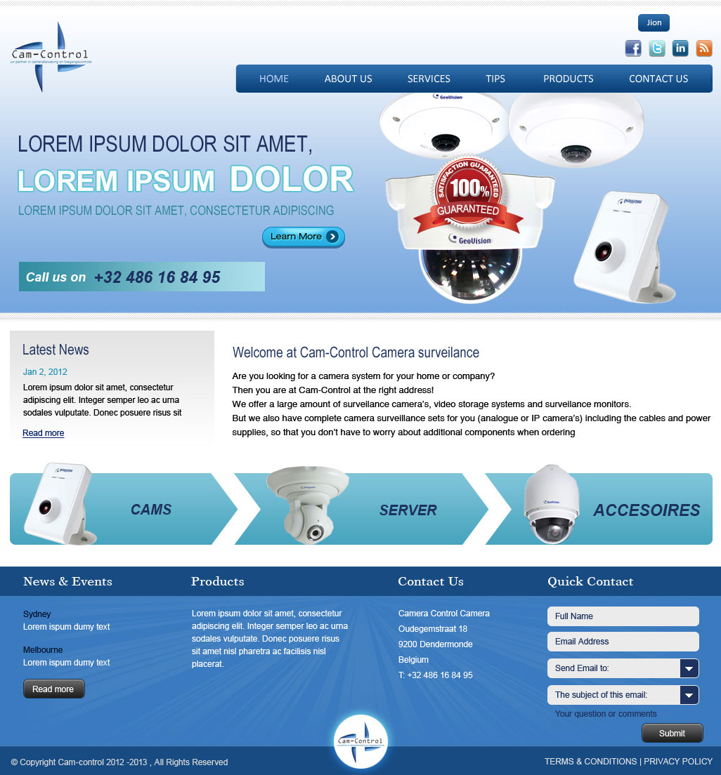 web design by creative usha for web design project for starting cctvcamera security installer - Web Design Project Ideas