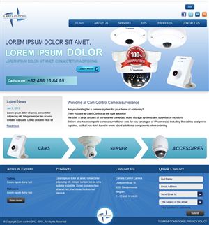 web design design 1190801 submitted to web design project for starting cctv - Web Design Project Ideas