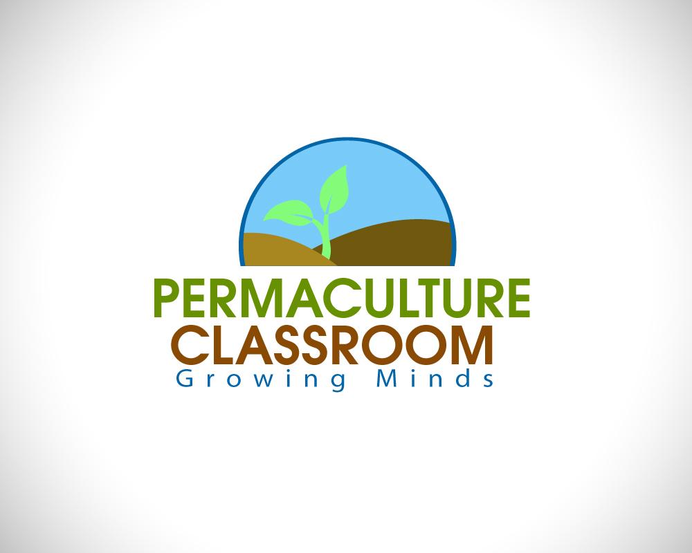 Classroom Logo Design ~ Elegant playful agriculture logo design for permaculture