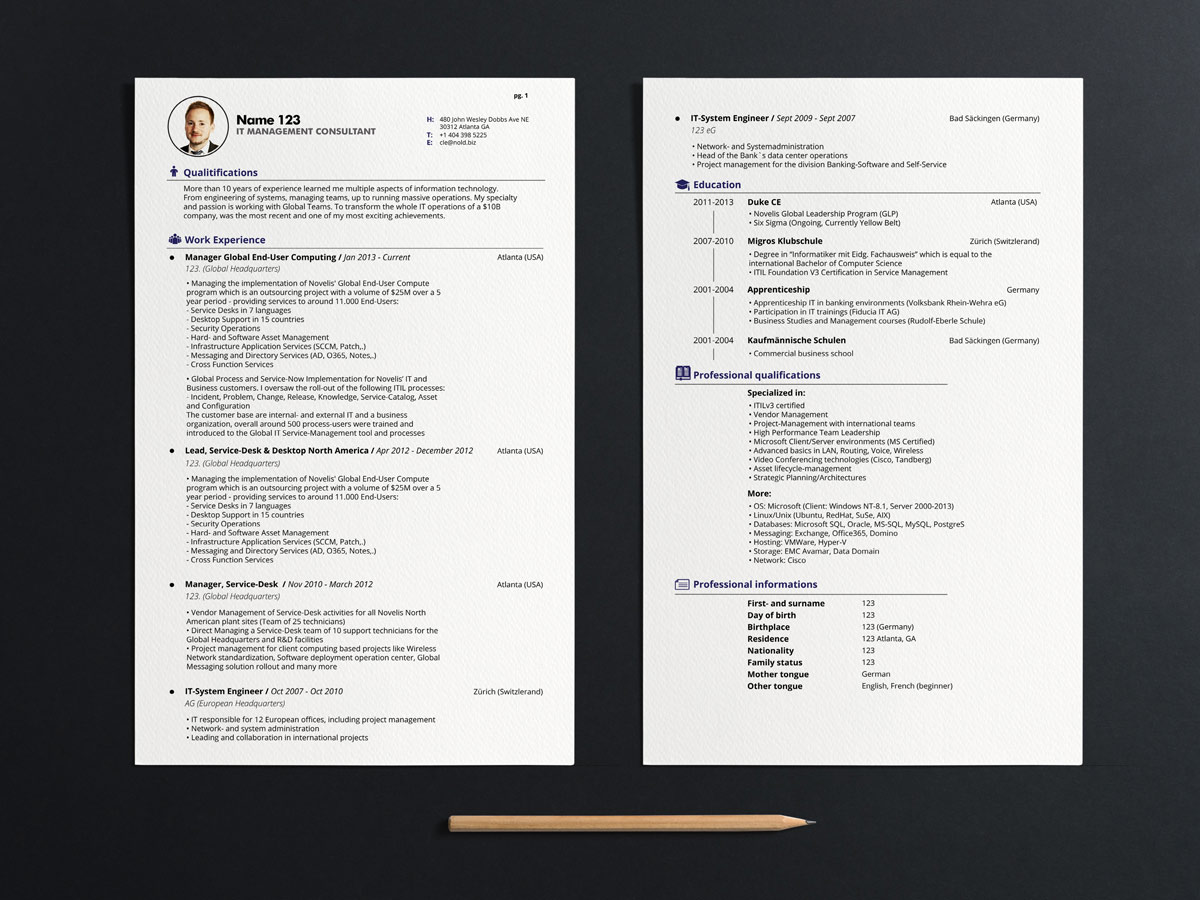 Professional, Serious, Management Resume Design for a Company by ...