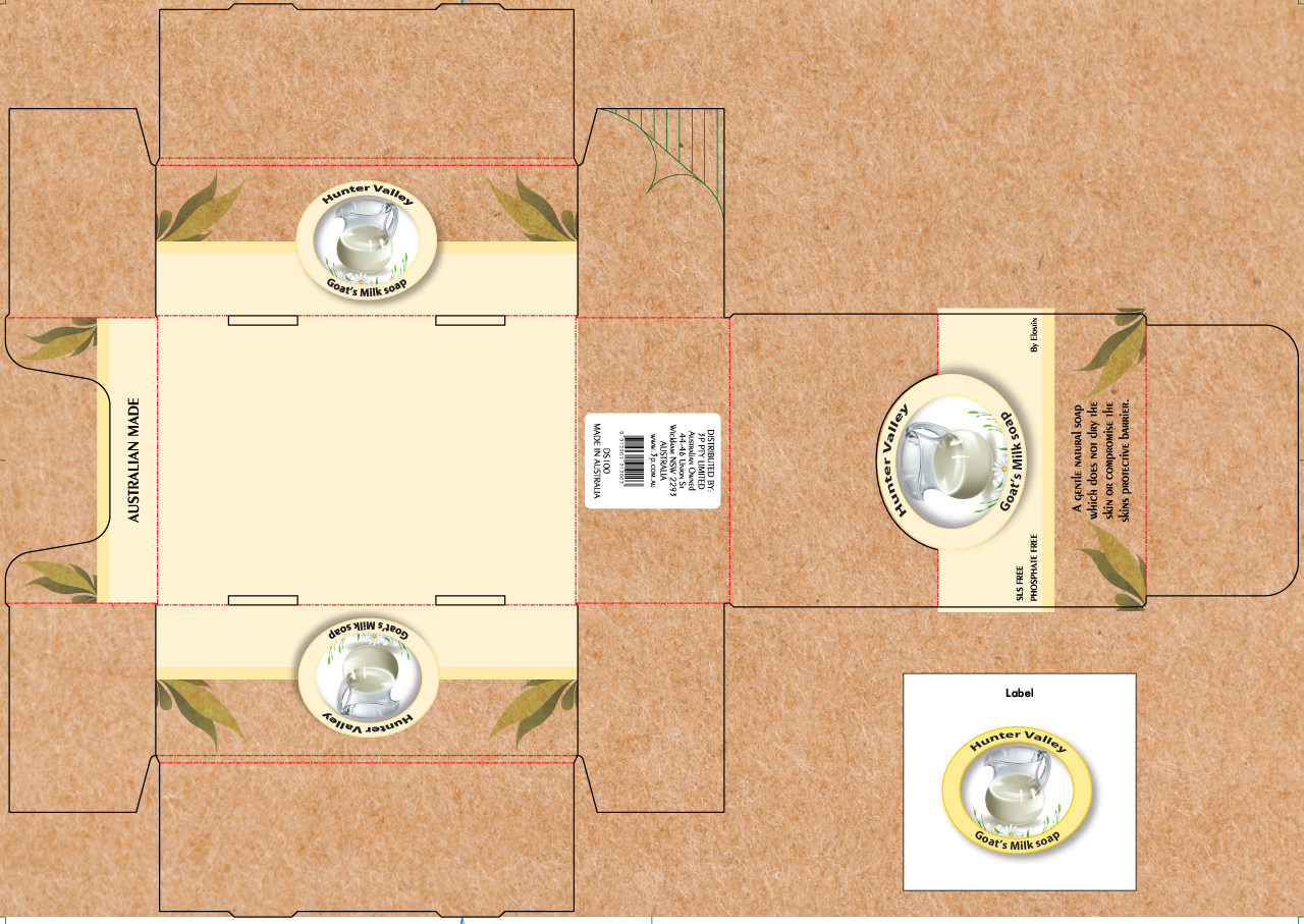 Display Box And Soap Label