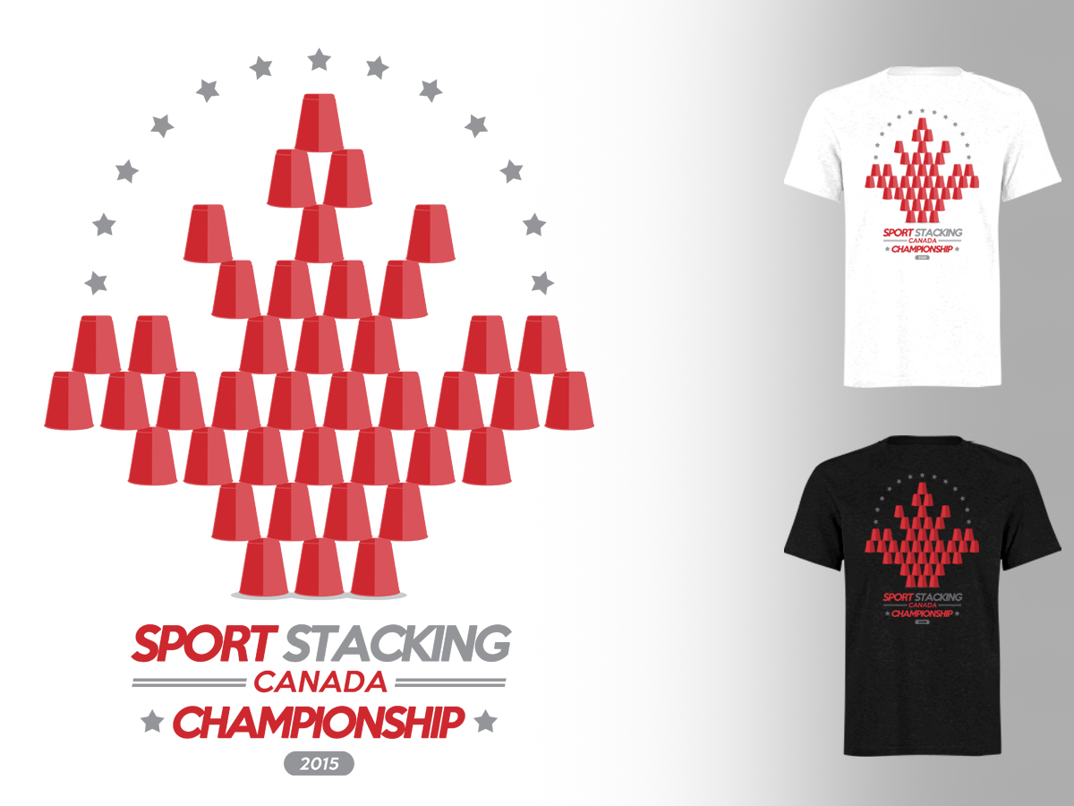 Shirt design canada - T Shirt Design By Stierney For Sport Stacking Canada Needs A Graphic Design For The