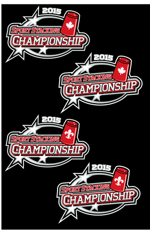 T-shirt Design by royalroosterdesign - Sport Stacking Canada needs a graphic design fo...