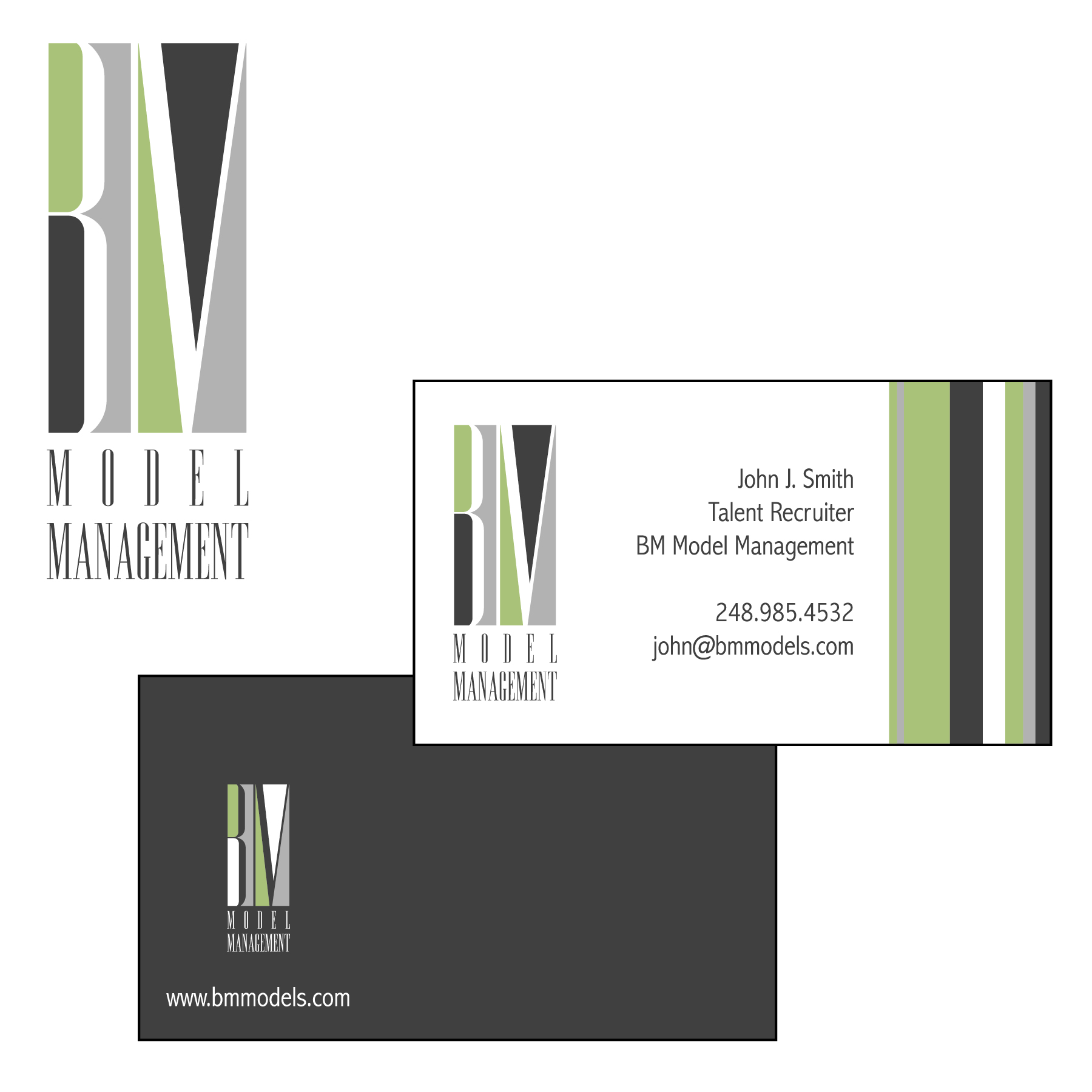 Management Business Card Design for BM Model Management by Alanna ...