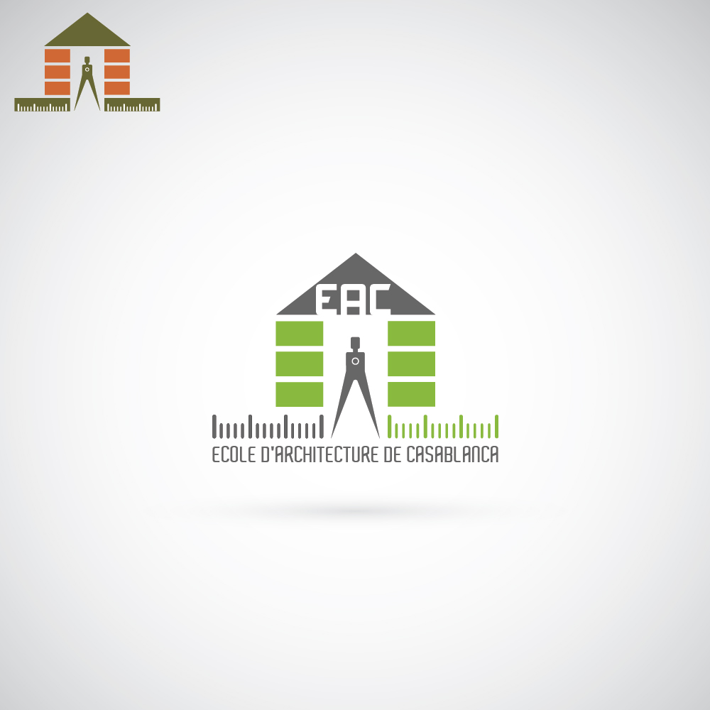 elegant modern school logo design for eac ecole d 39 architecture de casablanca by iron design. Black Bedroom Furniture Sets. Home Design Ideas