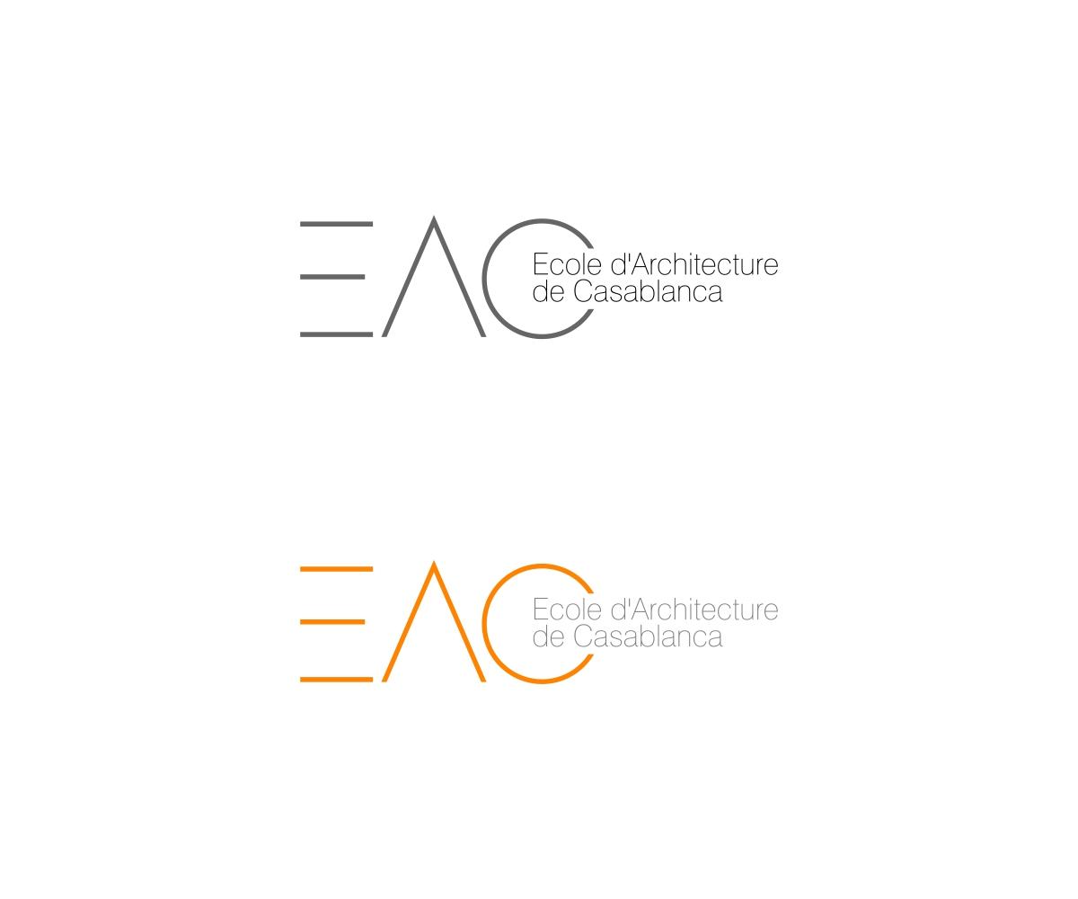 Logo of the Ecole d'Architecture de Casablanca by Edu Morente