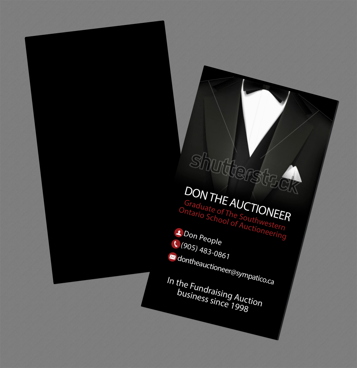 Masculine, Modern, Events Business Card Design for a Company by ...