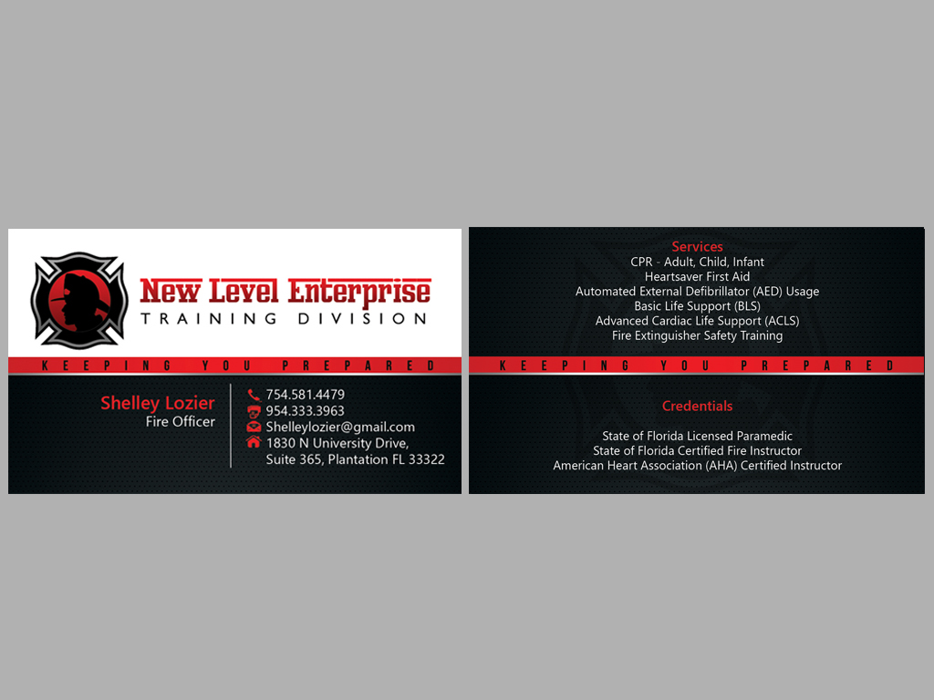 Bold Professional Training Business Card Design For A Company By