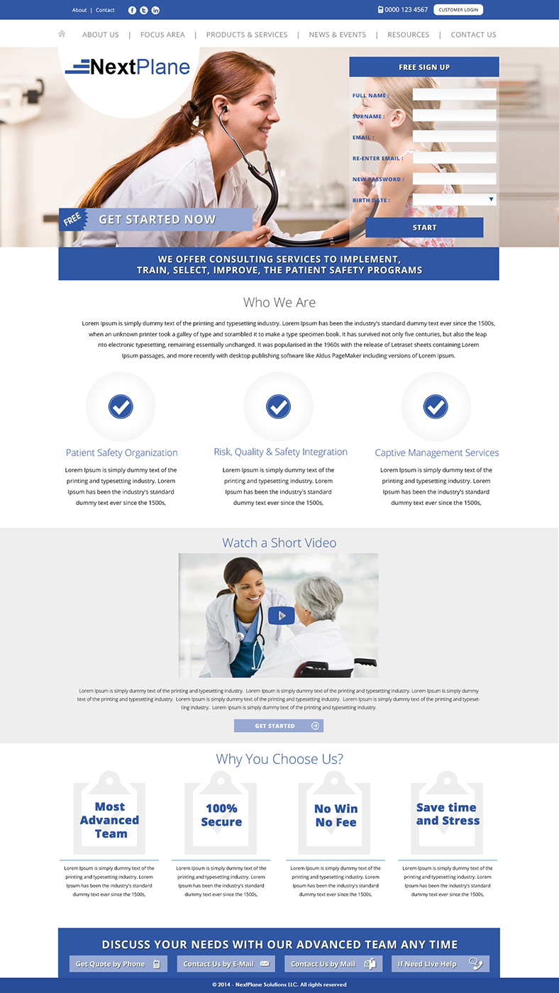 Modern professional management consulting web design for for Web design consultant