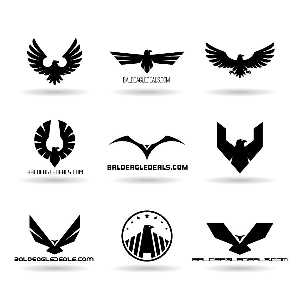 eagle logo design black and white