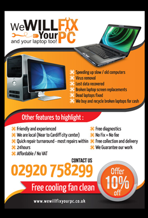 Bold, Modern Flyer Design for We WILL Fix Your PC by Peggy Lee ...