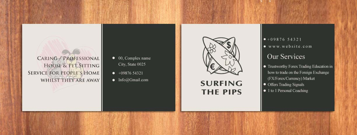 Serious, Elegant Business Card Design for Geoff Pyne by Sbss ...