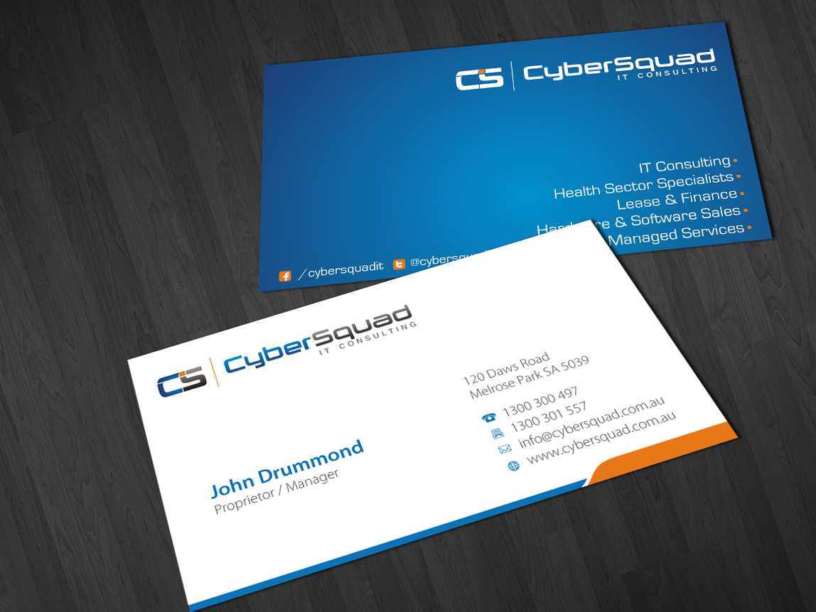 Modern, Bold, Medical Business Card Design for CyberSquad IT ...