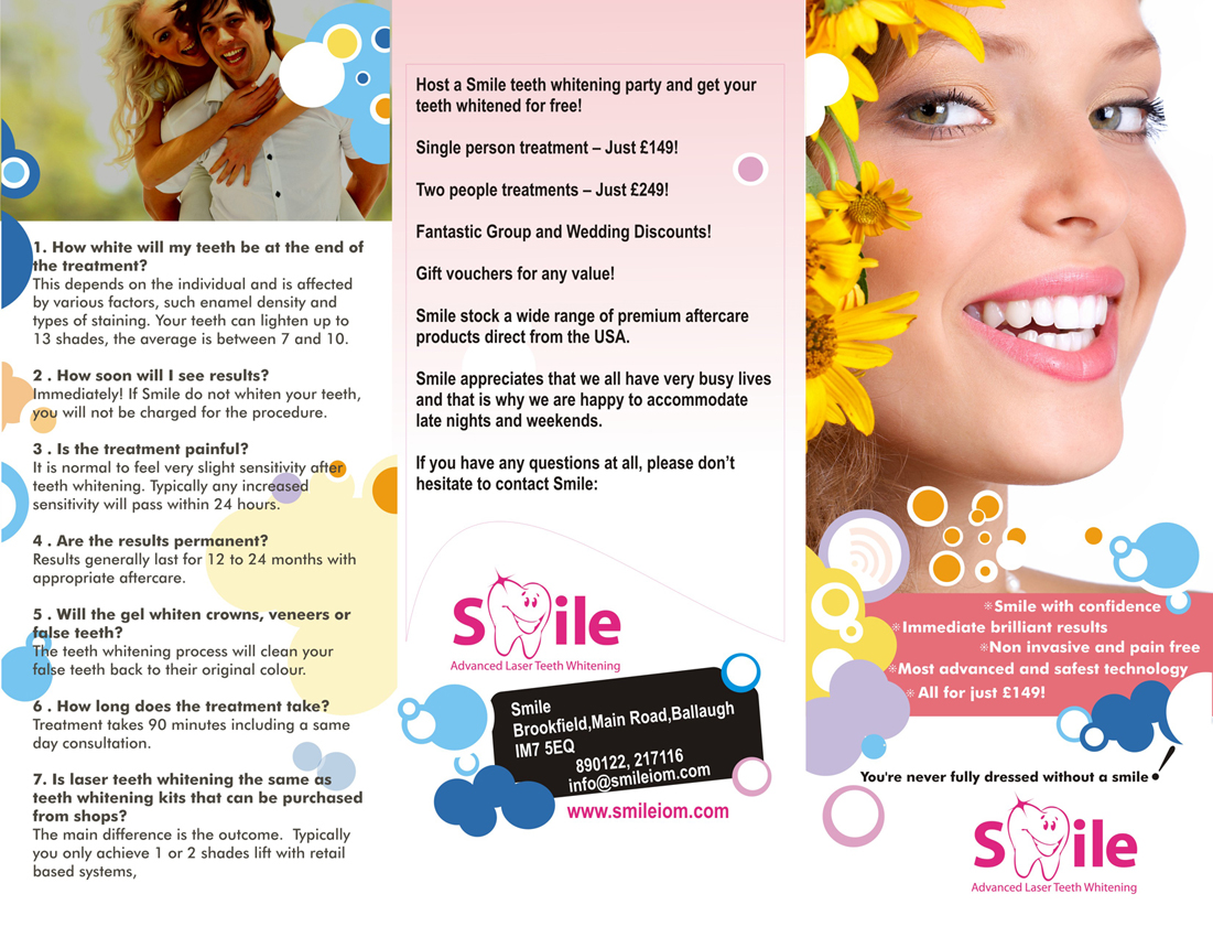 Teeth Whitening Brochure Laser Teeth Whitening