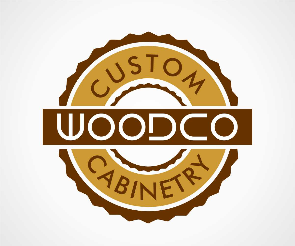 Retail Logo Design for WoodCo Custom Cabinetry by jhgraphicsusa | Design #4126803