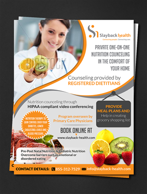 Brochure Design by hih7 - Web based Nutrition counceling needs a brochure