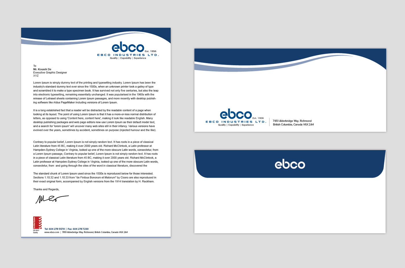 Letterhead design with iso logo the best logo of 2018 letterhead examples and samples 77 designs spiritdancerdesigns Choice Image